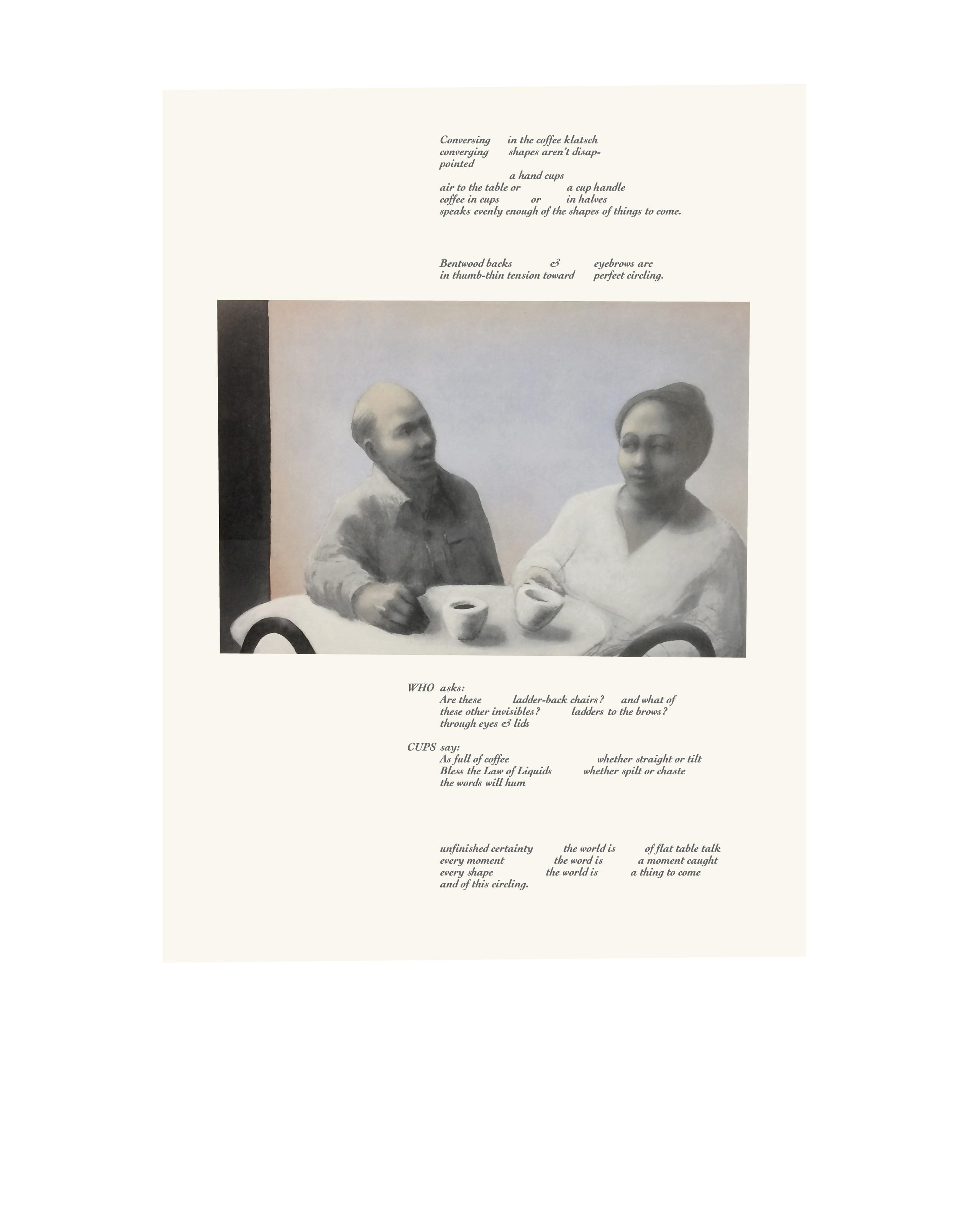Cups - 1978 - Letterpress print