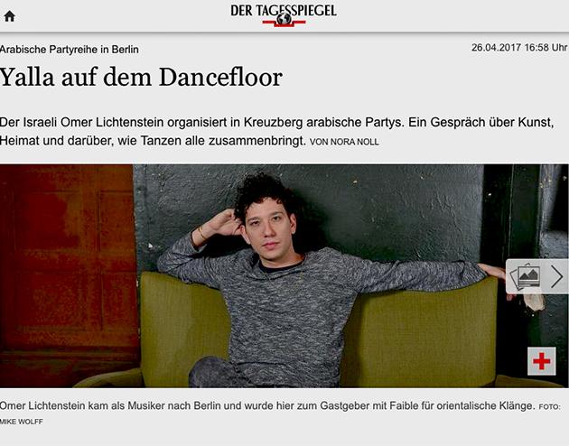tagesspiegel.de / 26.04.2017 / Arabische Partyreihe in Berlin