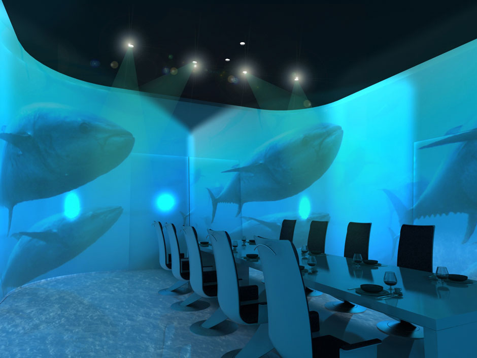 An example of the dining experience at  Ultraviolet  in Shanghai China
