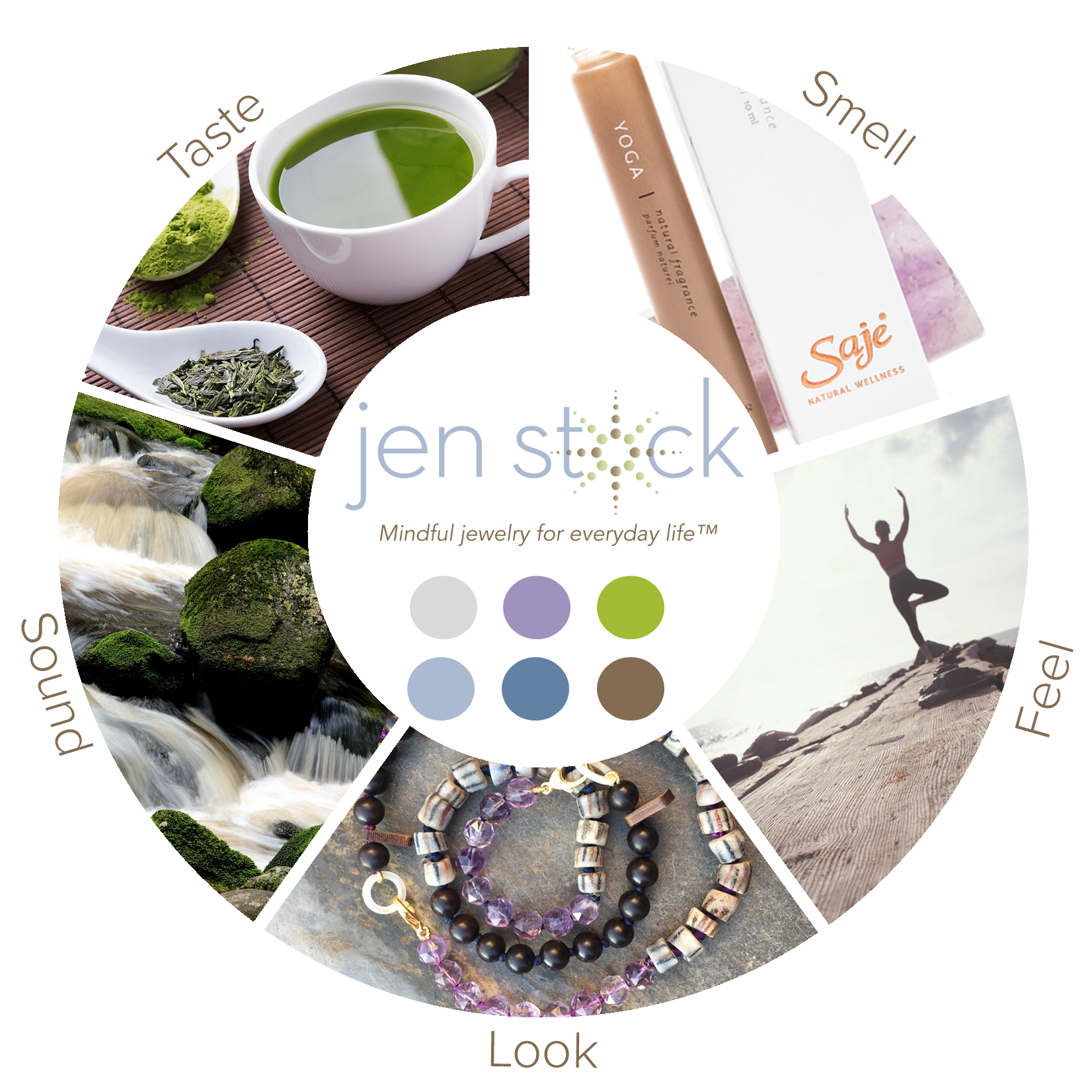 Jen Stock's Sensorial Mood Wheel was created by Laura Kyttanen. Cannot be reused without permission.