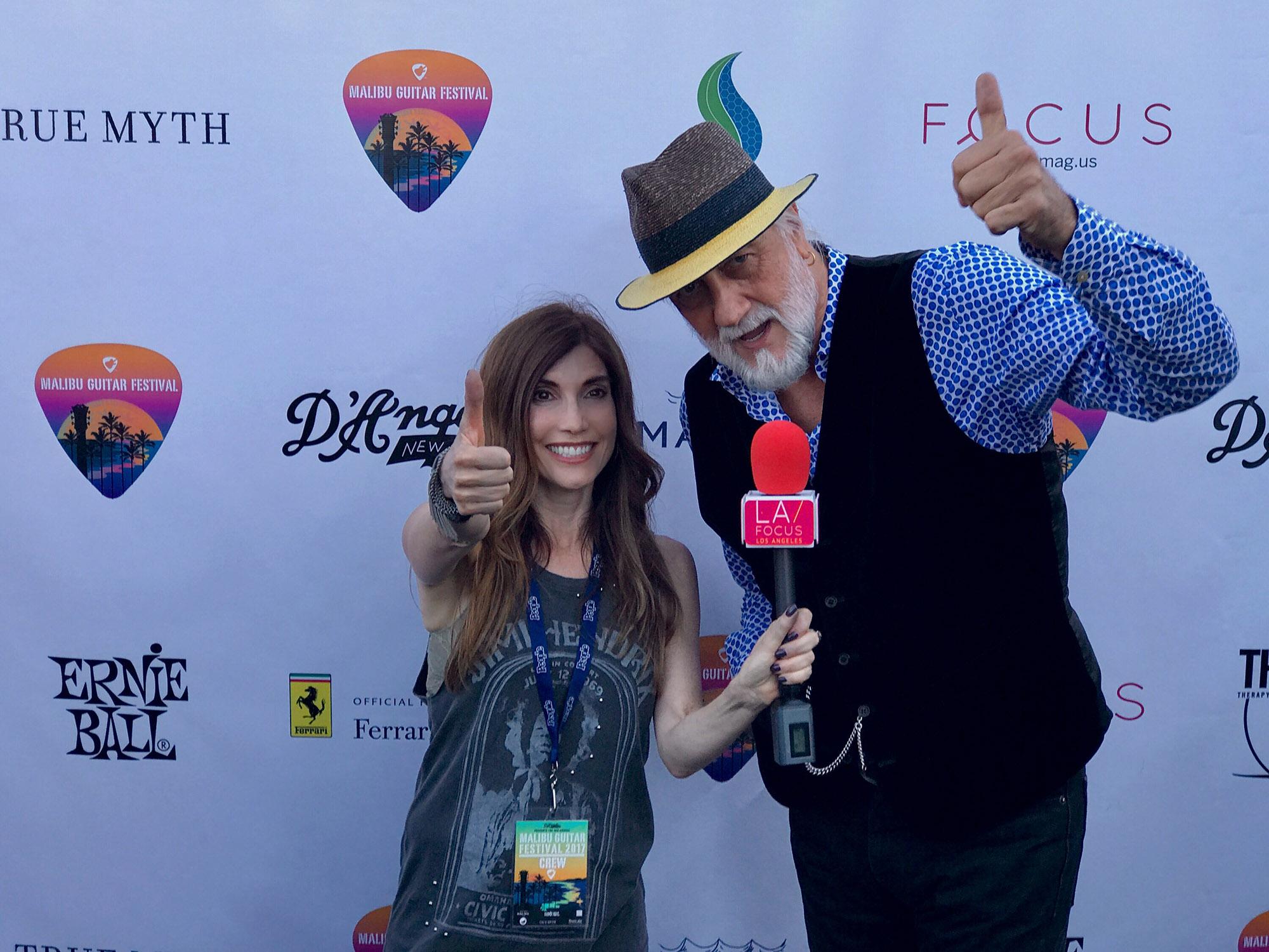 Tambi with Mick Fleetwood