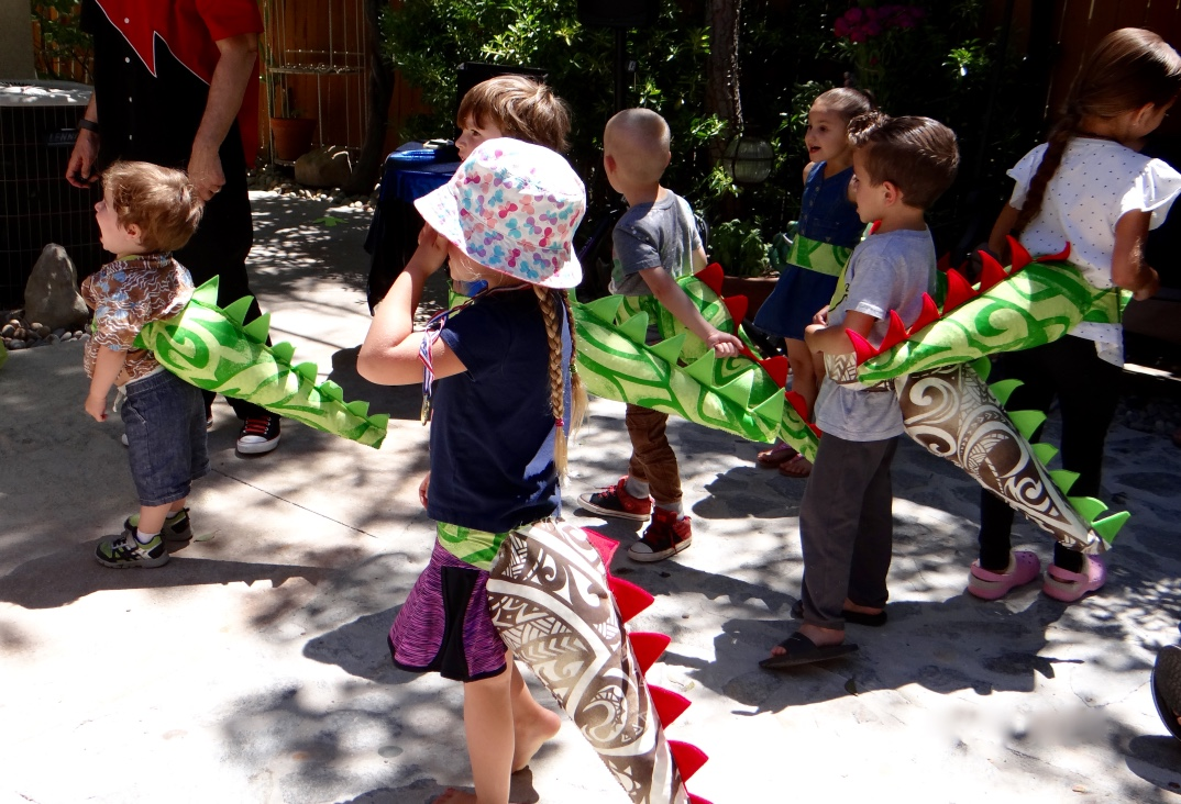 Dinosaur tails  for Bryce's birthday party