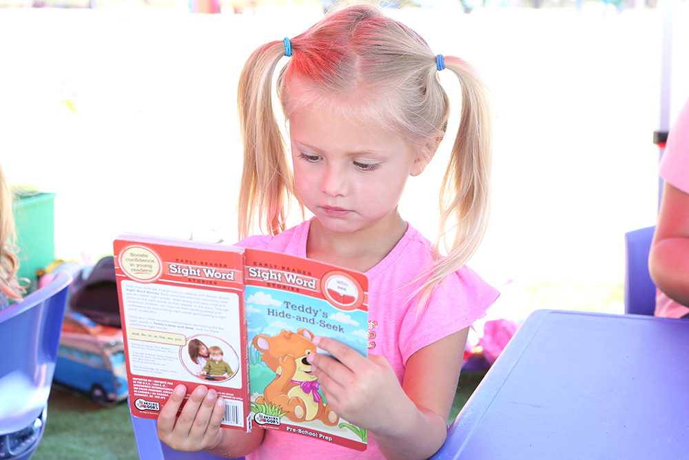 Self selected reading at Kinder Ready.  Photo Credit:  Tasia Wells , Getty Images.