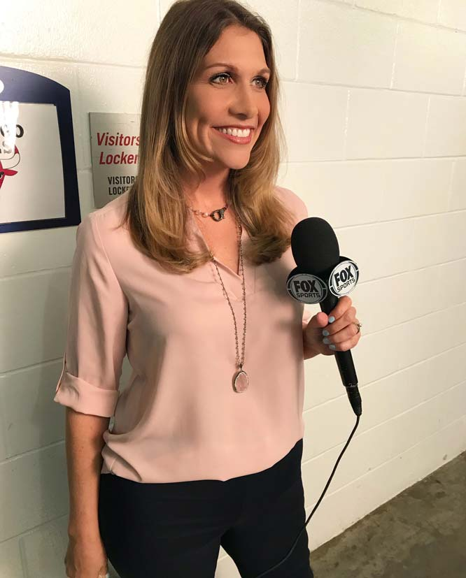 Lady Boss Mama Kristen Hewitt is a sideline reporter for the Miami Heat on Fox Sports.