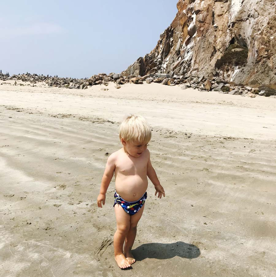 Morro Rock Jetty Beach is the perfect place for little ones to splash in the water just inside the jetty of the bay.