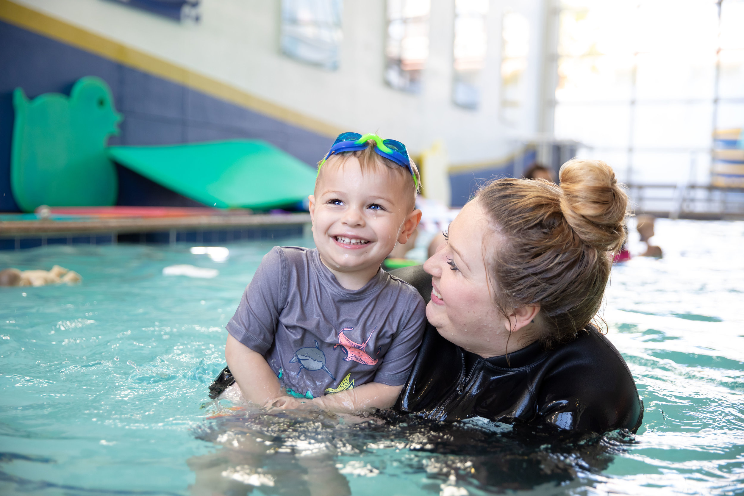 Aiden adores his instructor    Christie   . She knows just how to encourage and push him to get the best results.