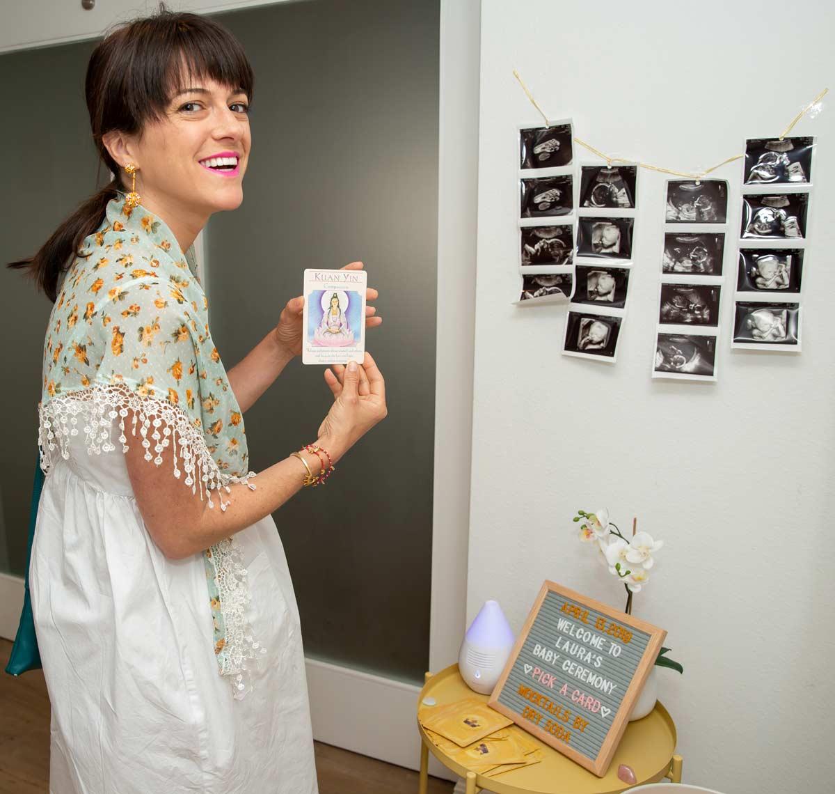 Guest, Karen, sharing the card selected