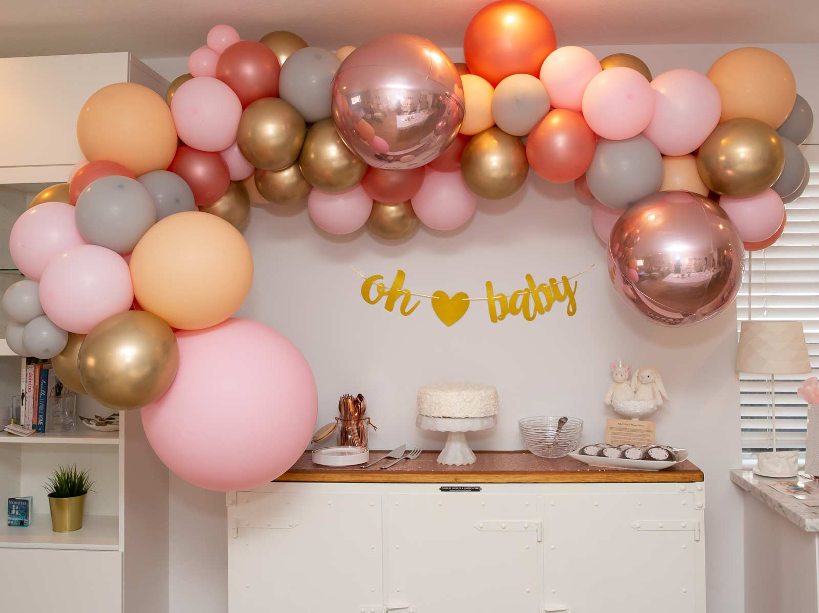 Beautiful balloon arch custom created and sponsored by    Creative Balloon Designs