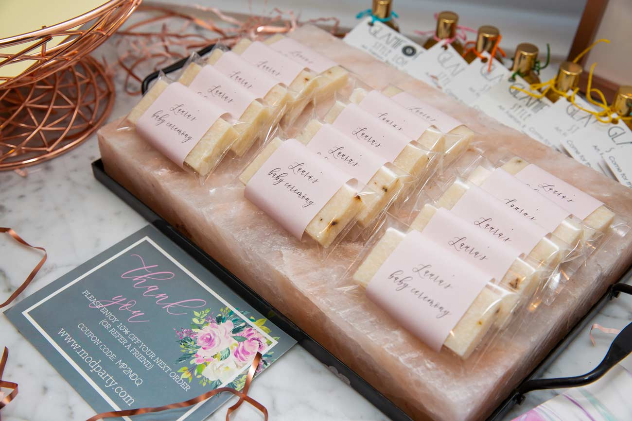 Personalized handmade soap was purchased on    Etsy   .