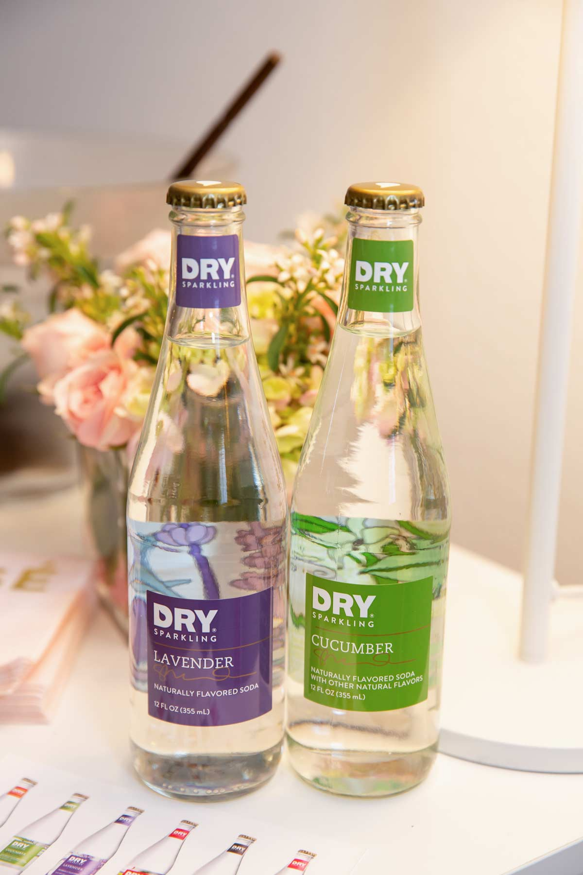 Dry Soda    sponsored the baby ceremony with two flavors - Lavender and Cucumber.