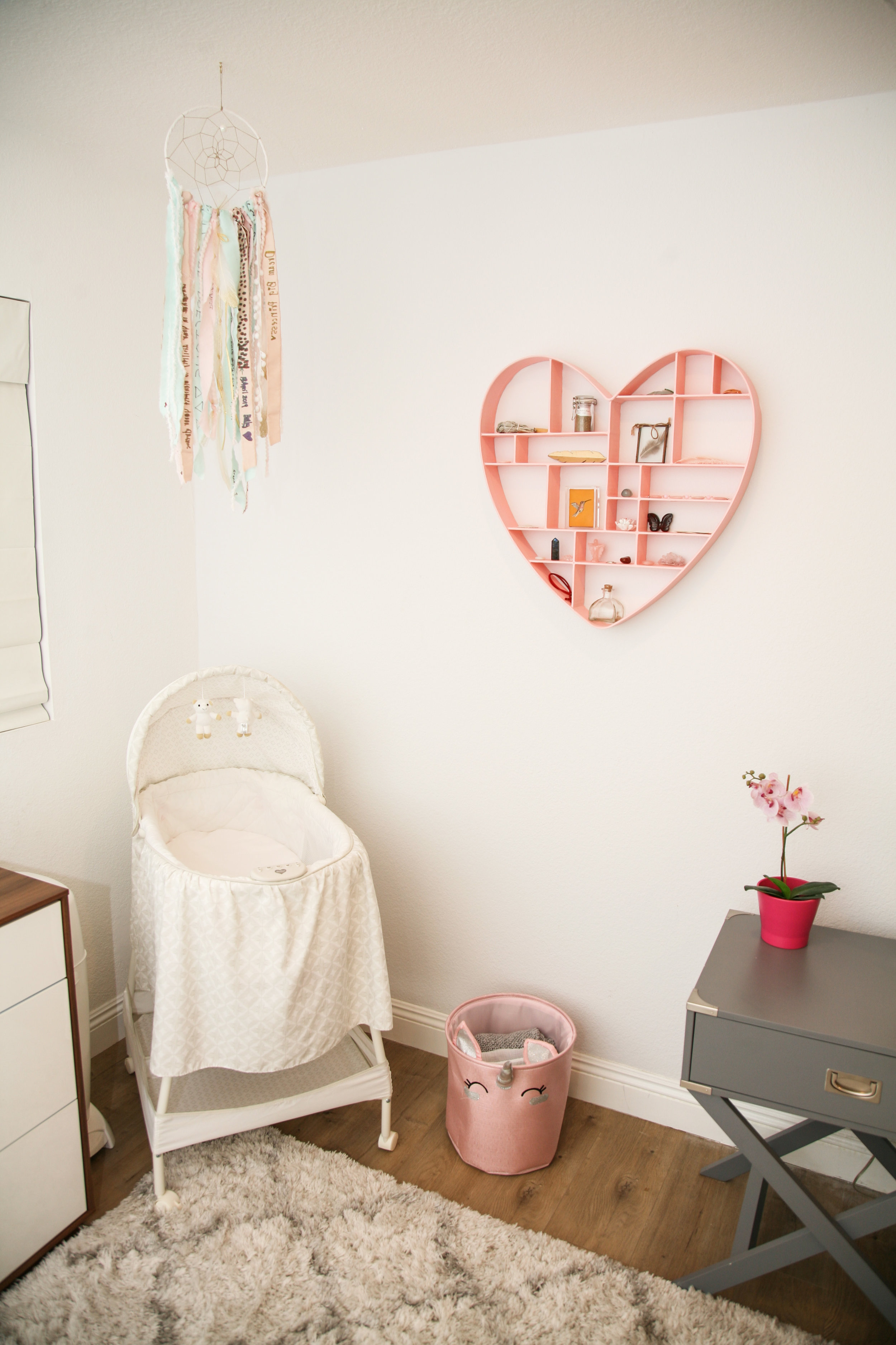 Baby nursery in the Master bedroom. For all product details refer to bottom of this post.
