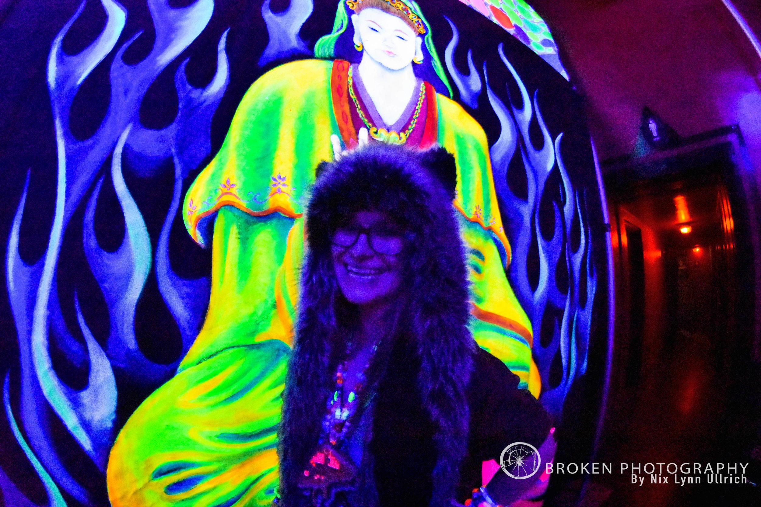 Spirit Hoods and Neon Decorations