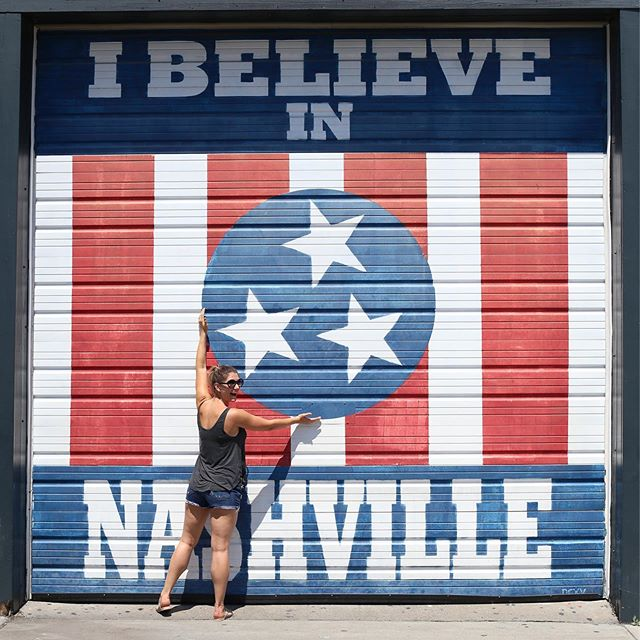 A town with a BYOB golf cart guided tour, beer flights that could pass as 6 packs, a flower shop on retro wheels, wine slushees (so good)....a place with memorable tip jars, bands rockin every corner at every hour of the day, and hot dogs with cream cheese (nuf said) Can't wait to go back! #nashville #nashvillelove