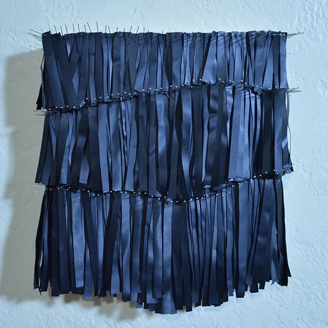 Trying to flutter, 2019 Pins and an old air mattress.  #sculpture #repurposed #artist #yyjart