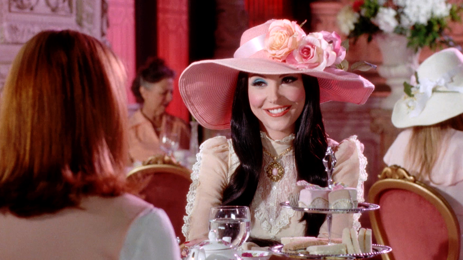 While writing, directing, producing, editing, scoring, and set designing,  The Love Witch 's Anna Biller also found time to design our favourite costumes of the year.  The film had a special Halloween screening at our cinema last fall .