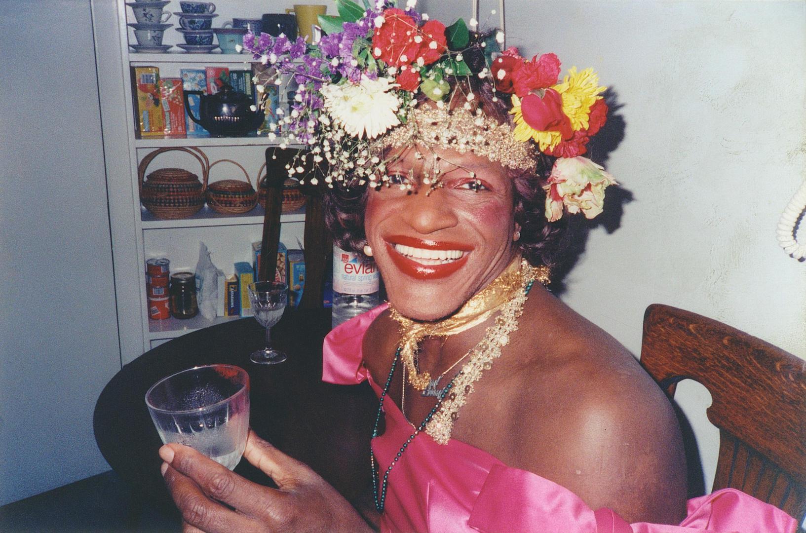 A photograph of Marsha P. Johnson.
