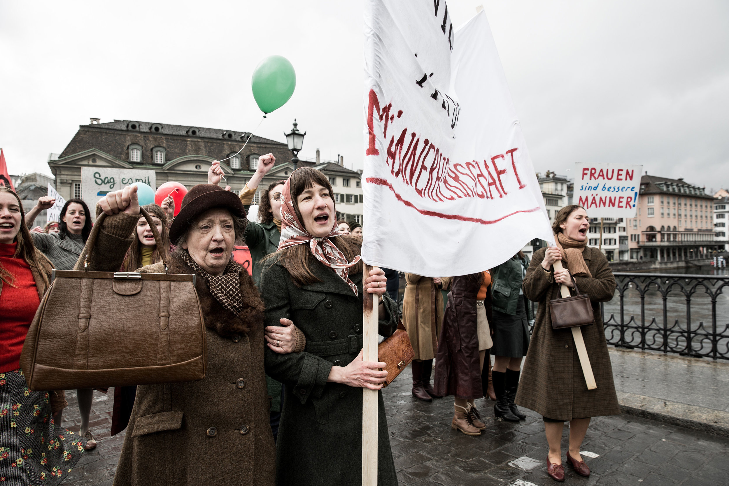 The women of  The Divine Order  march for equality in Zurich