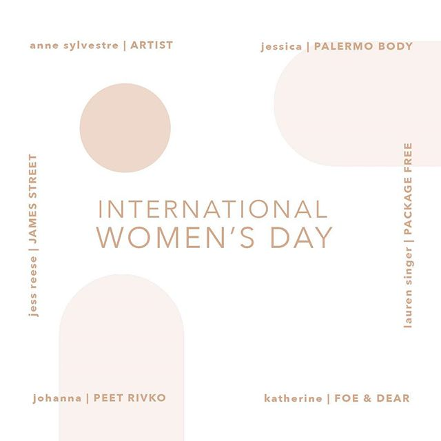 Shout out to some of my favorite female  founders, artists and makers! 💫 . Who are some of your favorite women entrepreneurs?🙋🏻‍♀️ #iwd2019