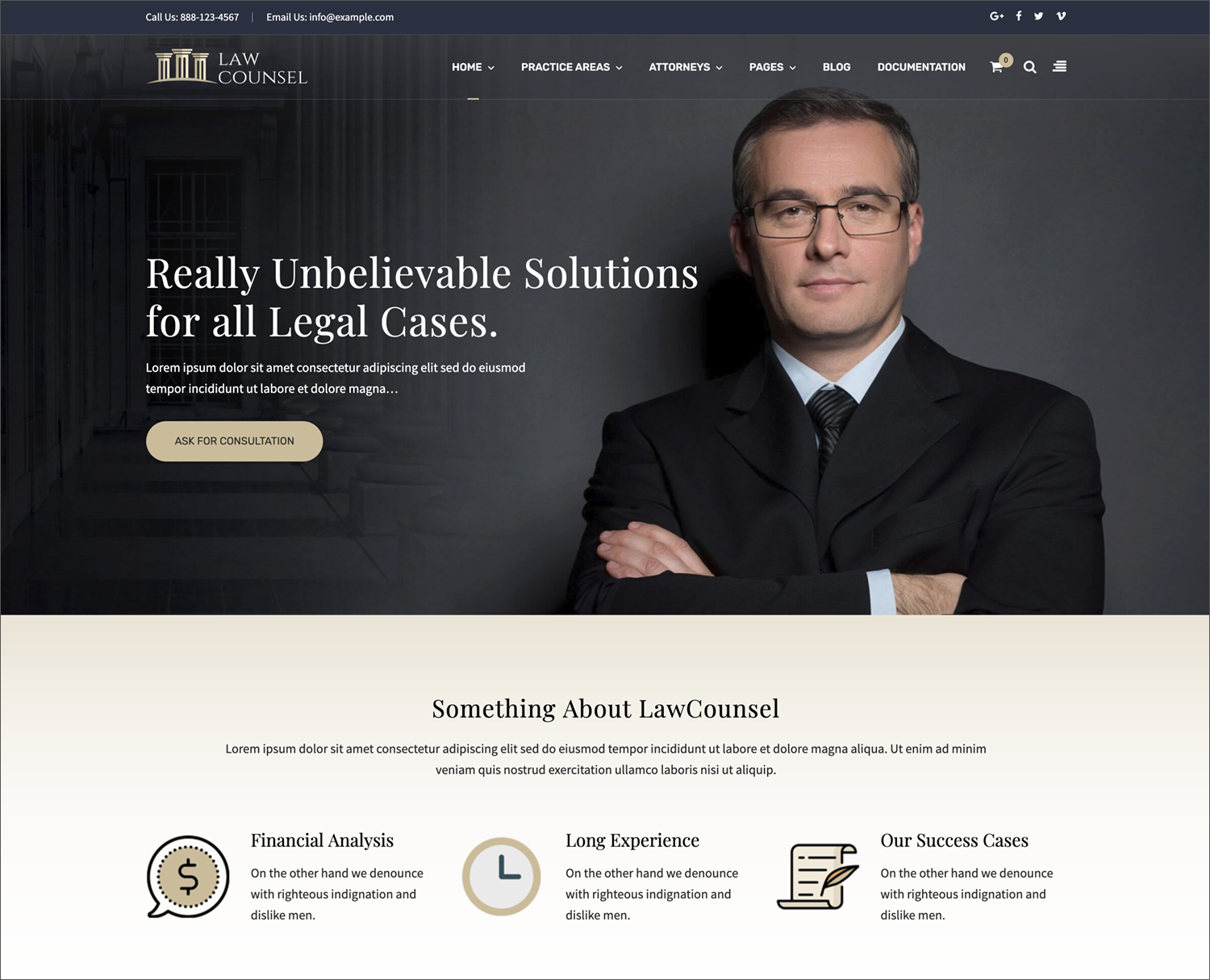 - Law Firms, Attorneys, Legal Businesses