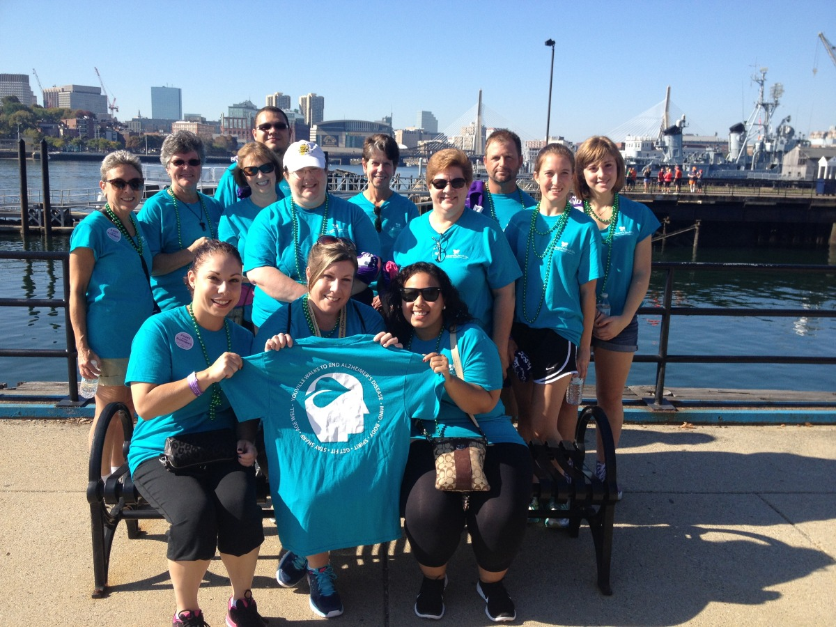 Youville Staff do A Walk to End Alzheimer's