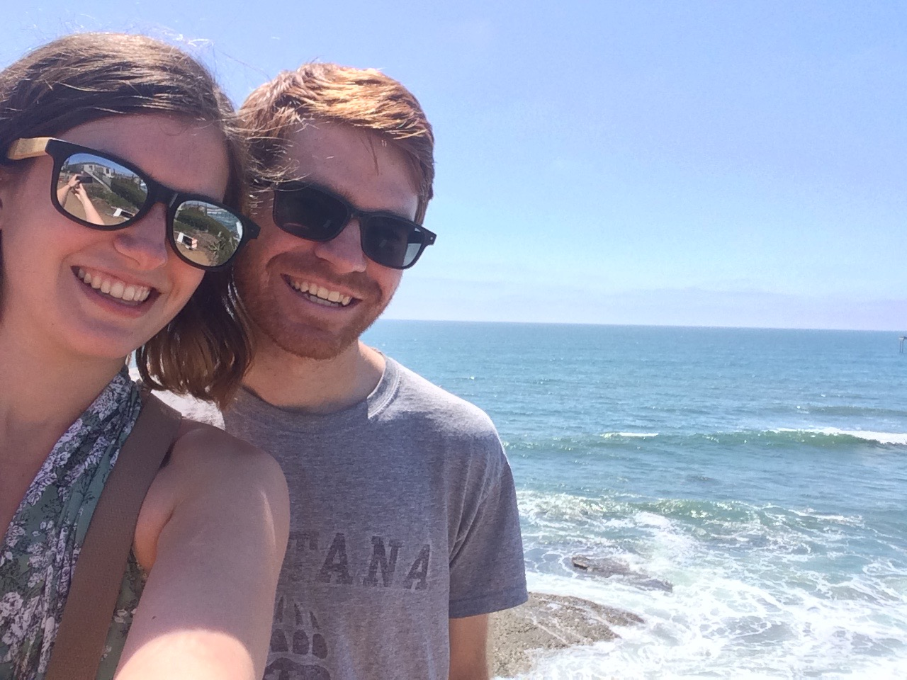 Co-founders Taylor and Brandon enjoying life while visiting the Pacific Ocean.