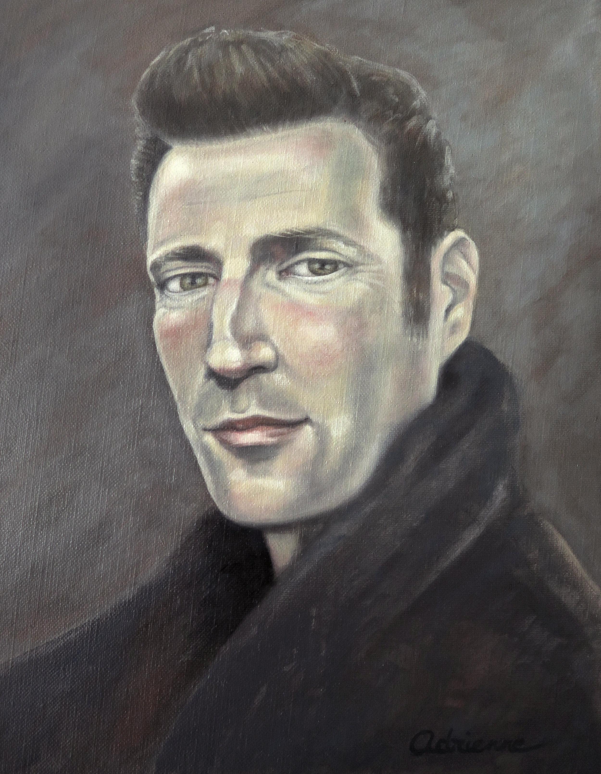 """Chris  Oil on canvas, 11"""" x 14""""  NFS"""