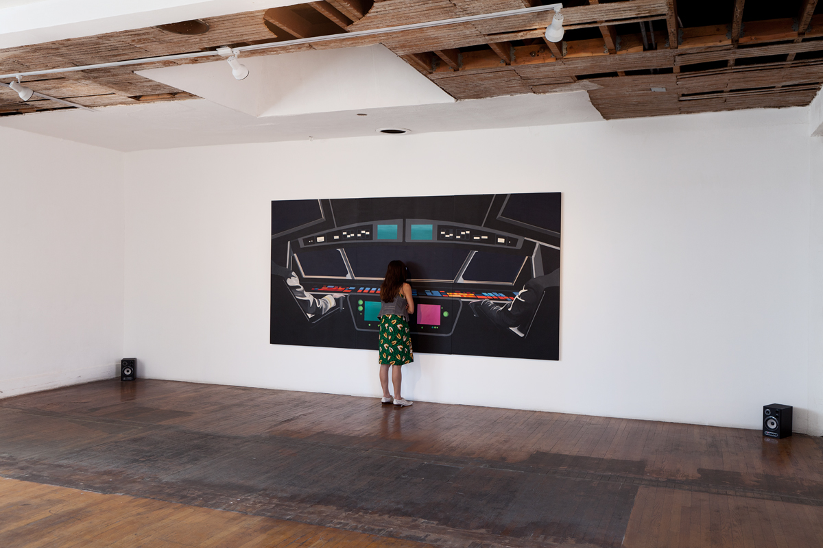 Rainbow Control Room (2001 Space Odyssey)INSTALL VIEW