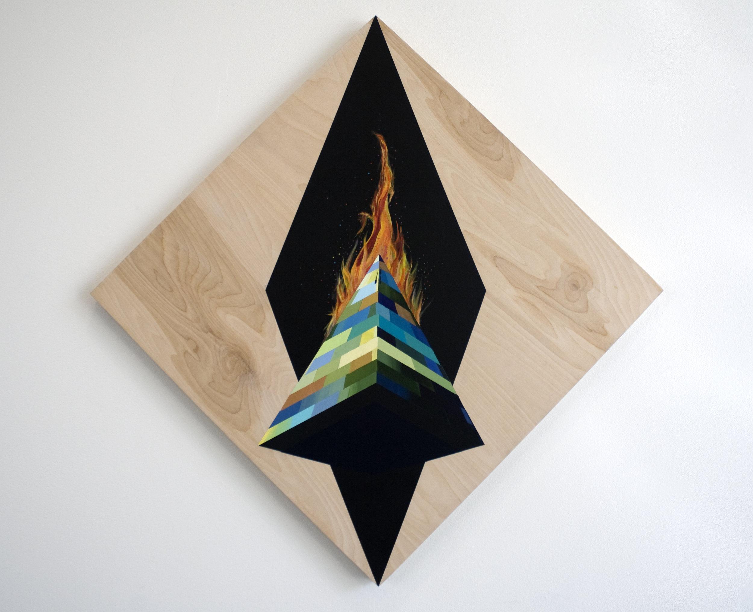 Obelisk on Fire