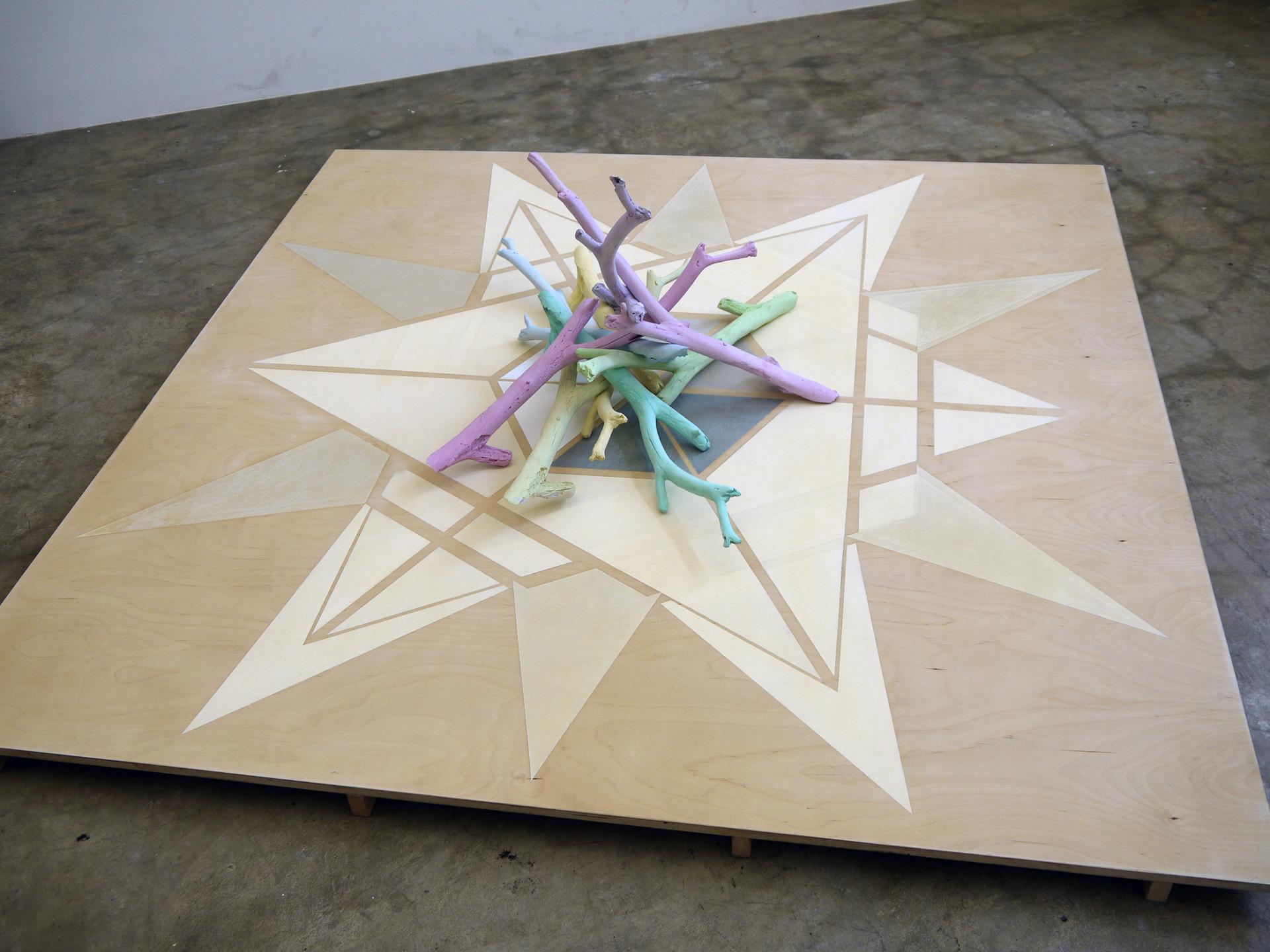 Dodekagramfloor painting & Bundle of sticks