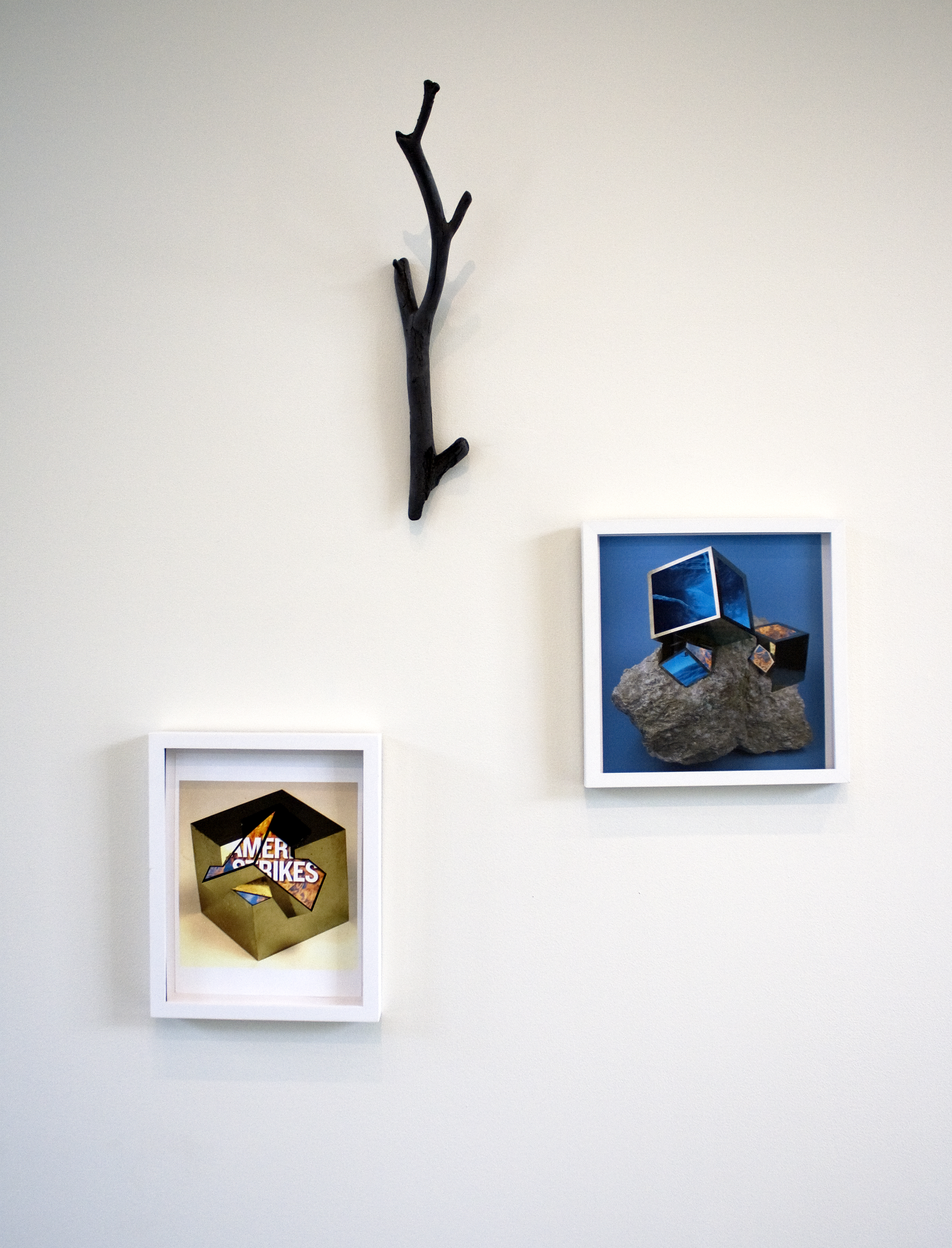 Black Cast Branch (Russian River) and Pyrite collages