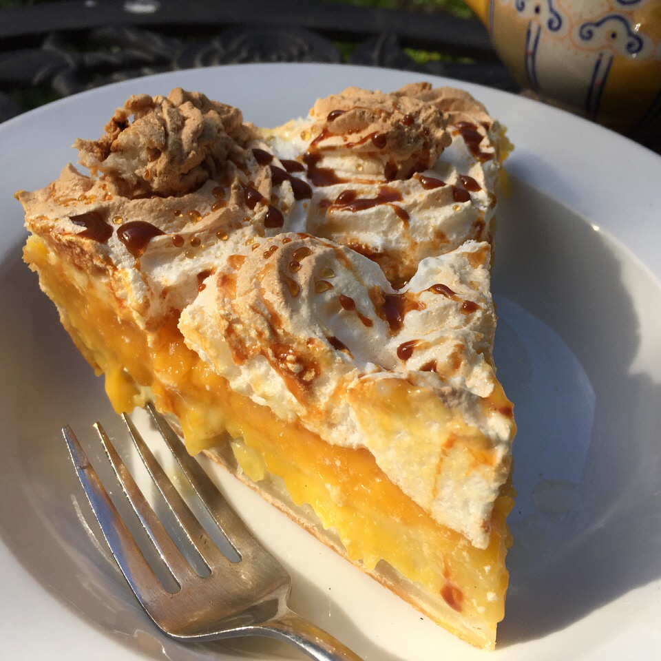A delicious triple layer of heavenly Passionfruit Coconut Meringue Pie