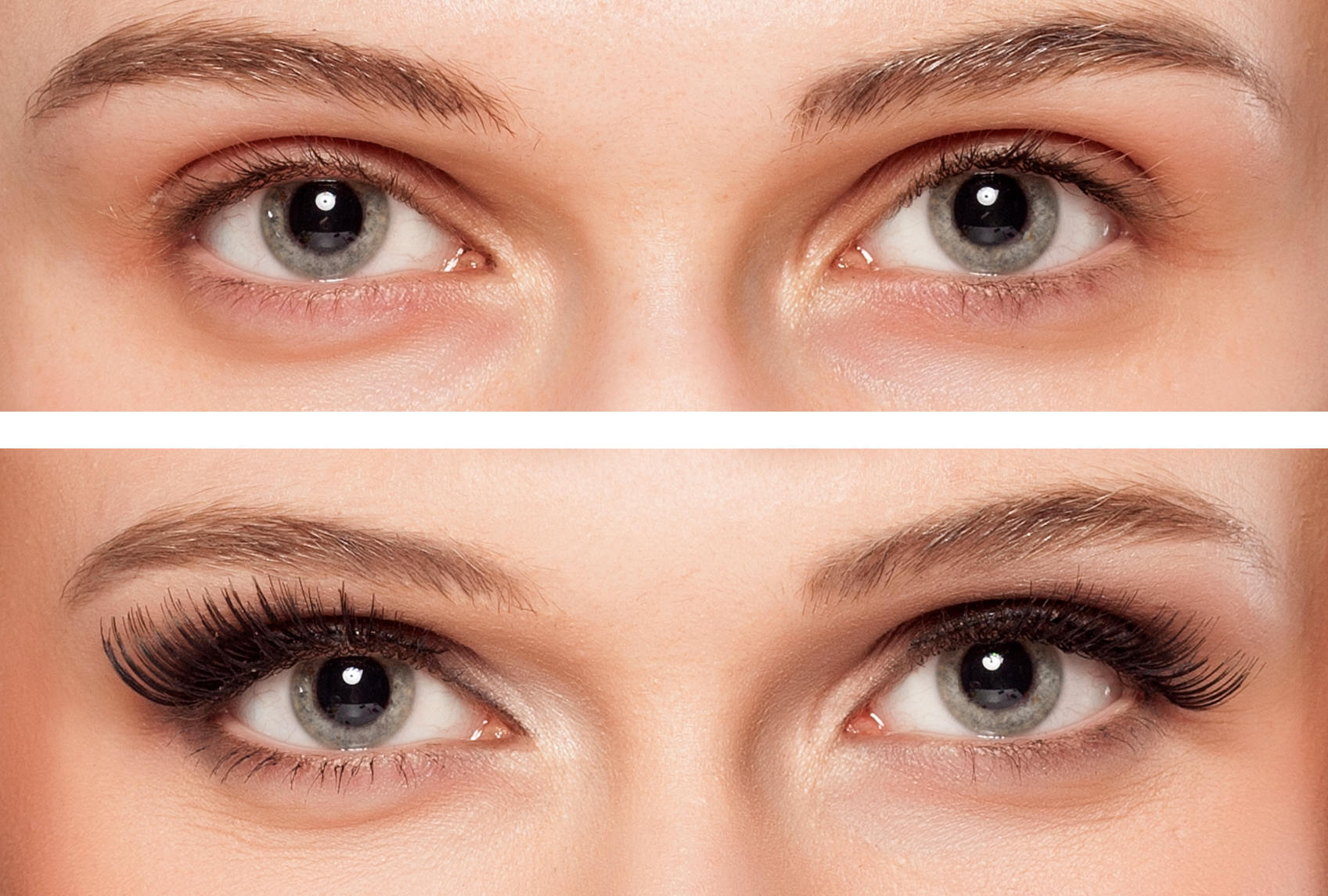 BEFORE AND AFTER: FULL SET OF EYELASH EXTENTIONS