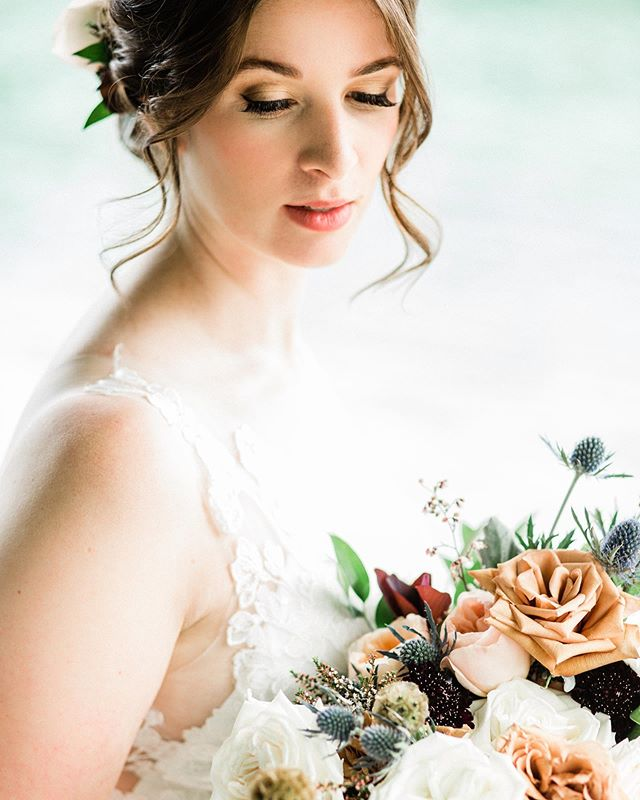 Simply stunning. Photo by the talented @michelleleudyphoto  Hair by the @fletcherbridalhair duo!