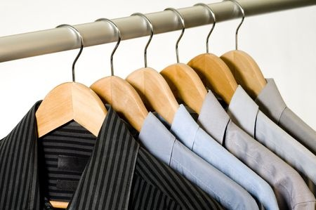 freshly-laundered-hanging-mens-shirts