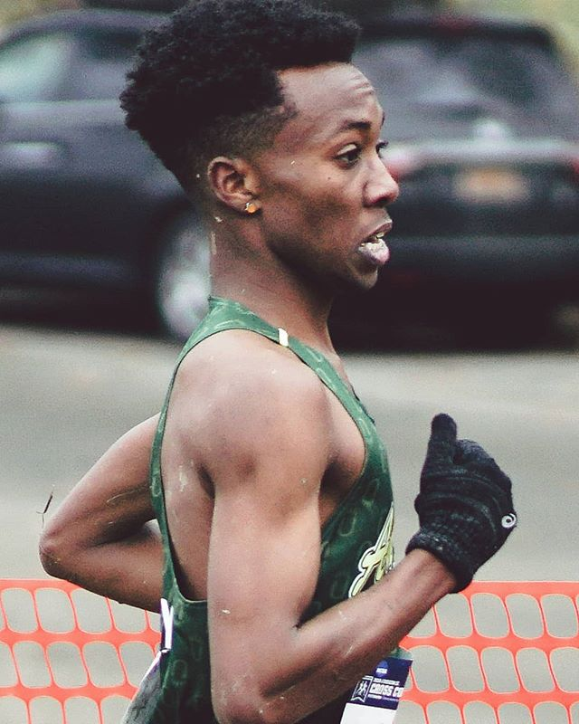 this is sydney gidabuday. he just won his seventh d2 national championship. - indoor 5000m, 13:46.