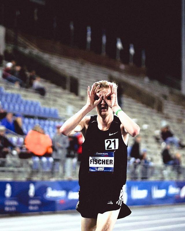 reed fischer - drake relays 5k champion! 13:51