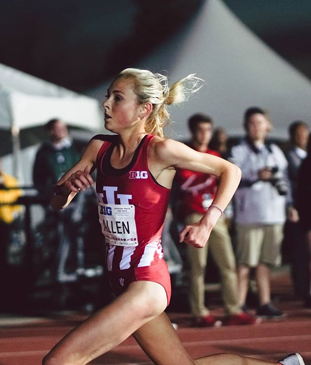 four years in the making. maggie allen is a big ten champion. - 10k - 33:08.59