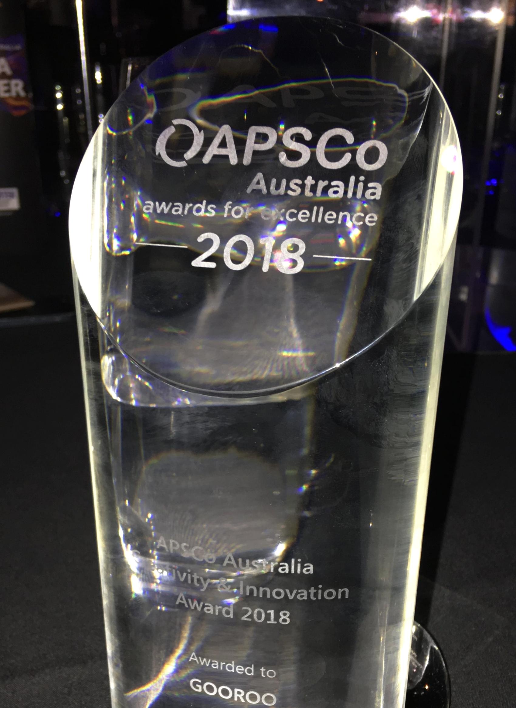 Gooroo APSCo Award Creativity & Innovation Category