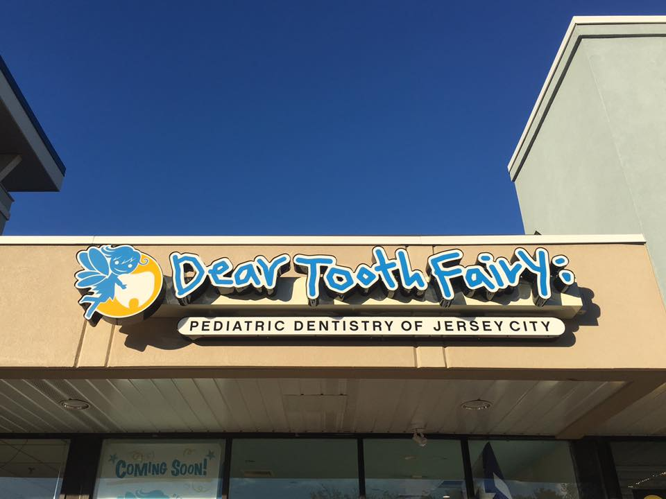 Dear Tooth Fairy's storefront sign is up!