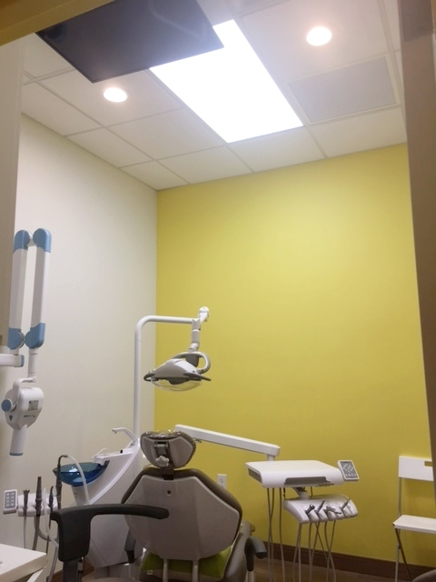 Ceiling TV in Treatment Room