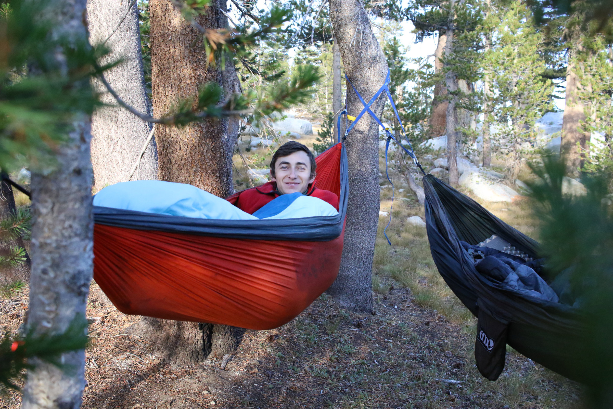 Sleeping as snug as a bug in a rug in our favorite place, nature :)