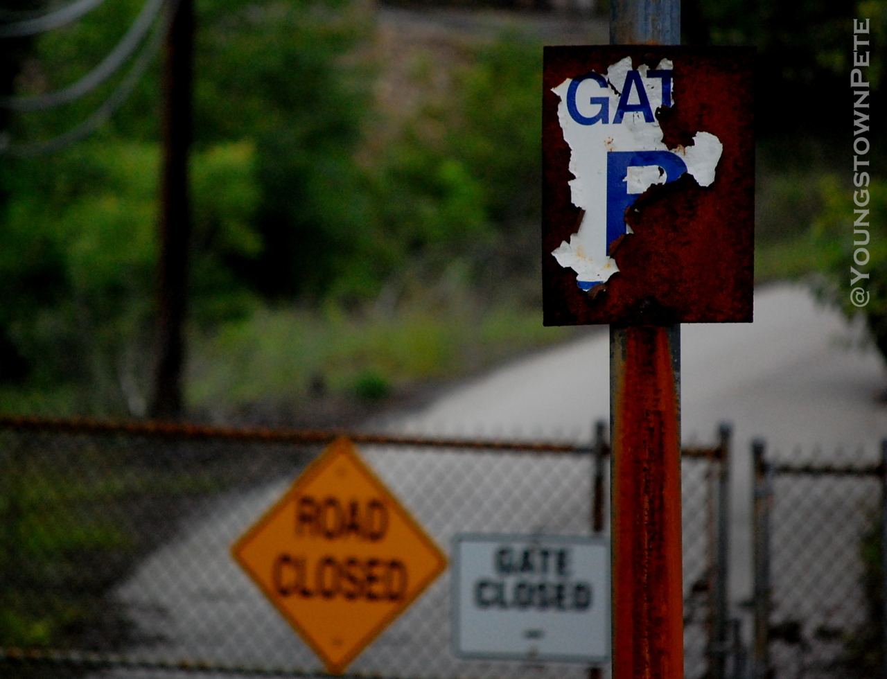 Monaca, PA. Then I found the abandoned gate that went in the back of the plant.