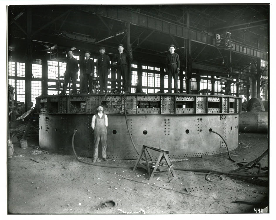 1910 - Fabrication Crew - Could be building Cowper stoves for a blast furnace.