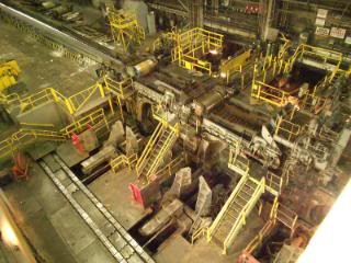 """""""Looking down from the overhead Crane that I operated for 23 years of the coiler area."""""""