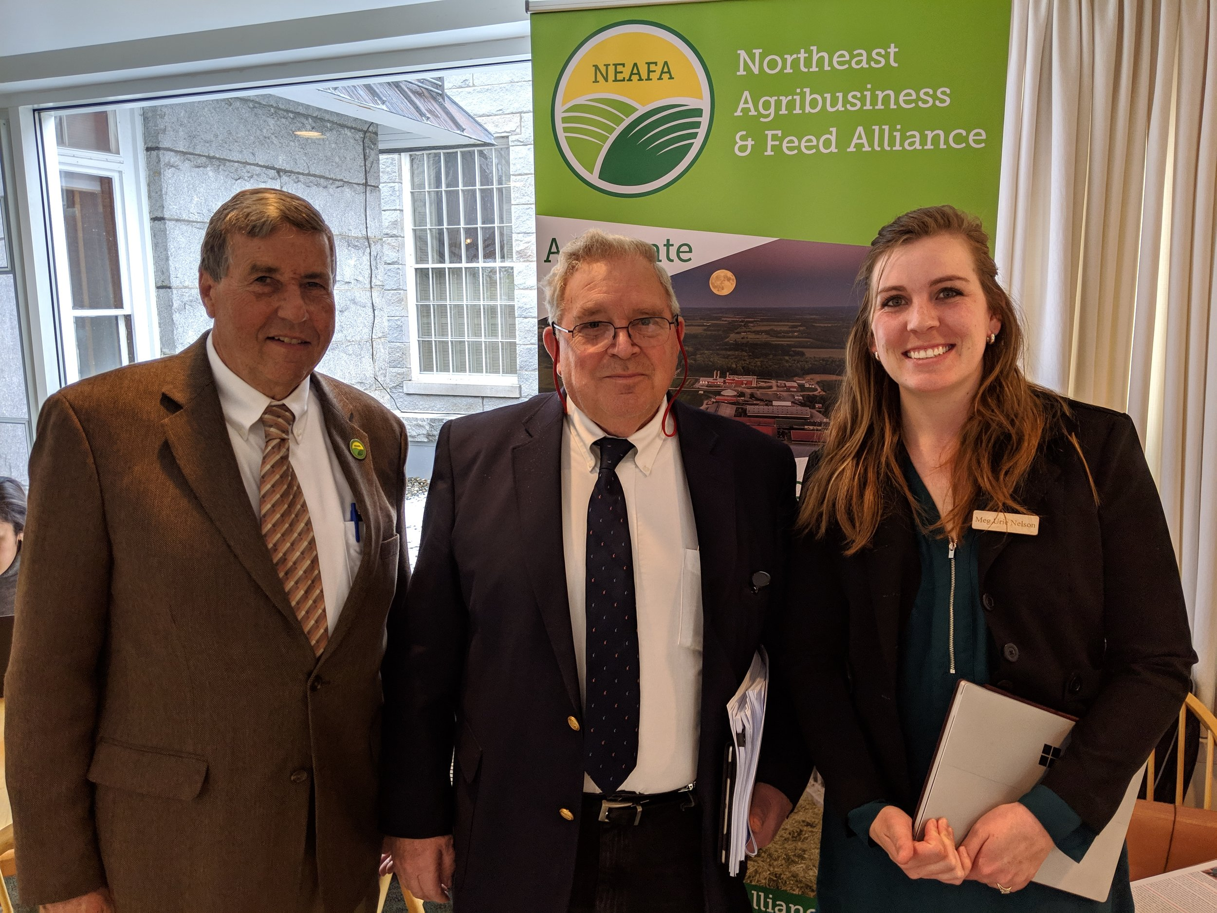 NEAFA co-hosted a legislative reception in Montpelier on April 10th.  NEAFA representatives Art Whitman, Governmental Relations Committee member, and Meg Nelson, NEAFA's VT Legislative Representative, join Representative Harvey Smith who stopped by to talk about policy issues.