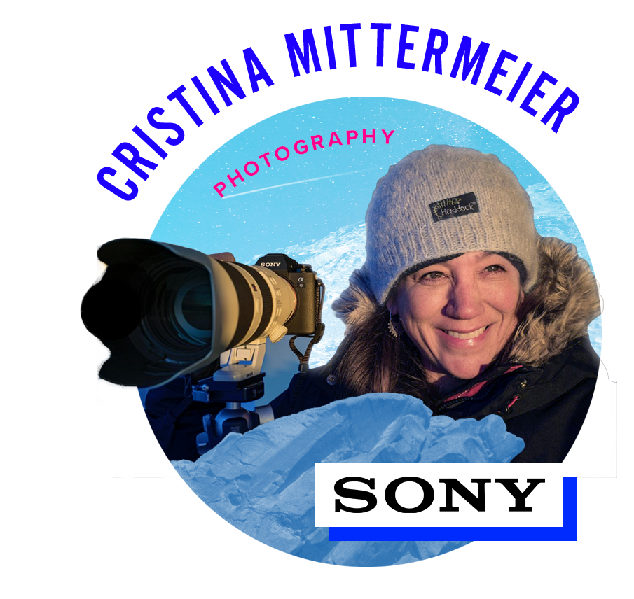 CHRISTINA MITTERMEIER   Cristina Mittermeier is one of those few and she dedicates her life to creating images that help us understand the urgent need to protect our wild places. Cristina is a National Geographic Photographer, Co-founder and President of the conservation society, SeaLegacy, a Sony Artisan of Imagery and a Marine Biologist. She is recognized as one of the World's Top 40 Most Influential Outdoor Photographers by Outdoor Magazine and has edited 25 coffee table books on conservation issues. She is a sought-after Keynote Speaker and Presenter, including TEDx and most recently, with the National Geographic Live Series.   www.cristinamittermeier.com