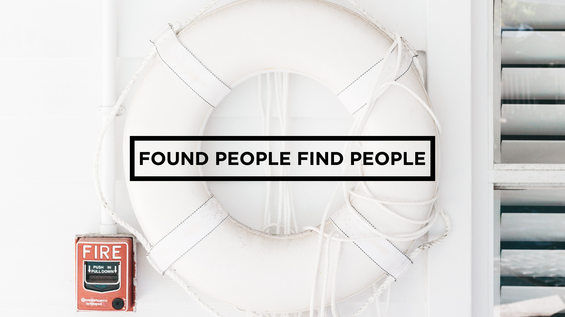 7. Found People Find People - As Jesus has found us, he calls us to enter into His mission of seeking and saving the lost. We want to do our part sharing the Gospel with our lives and with our words that many may come to know Him.  You can listen more to how we approach this value here.