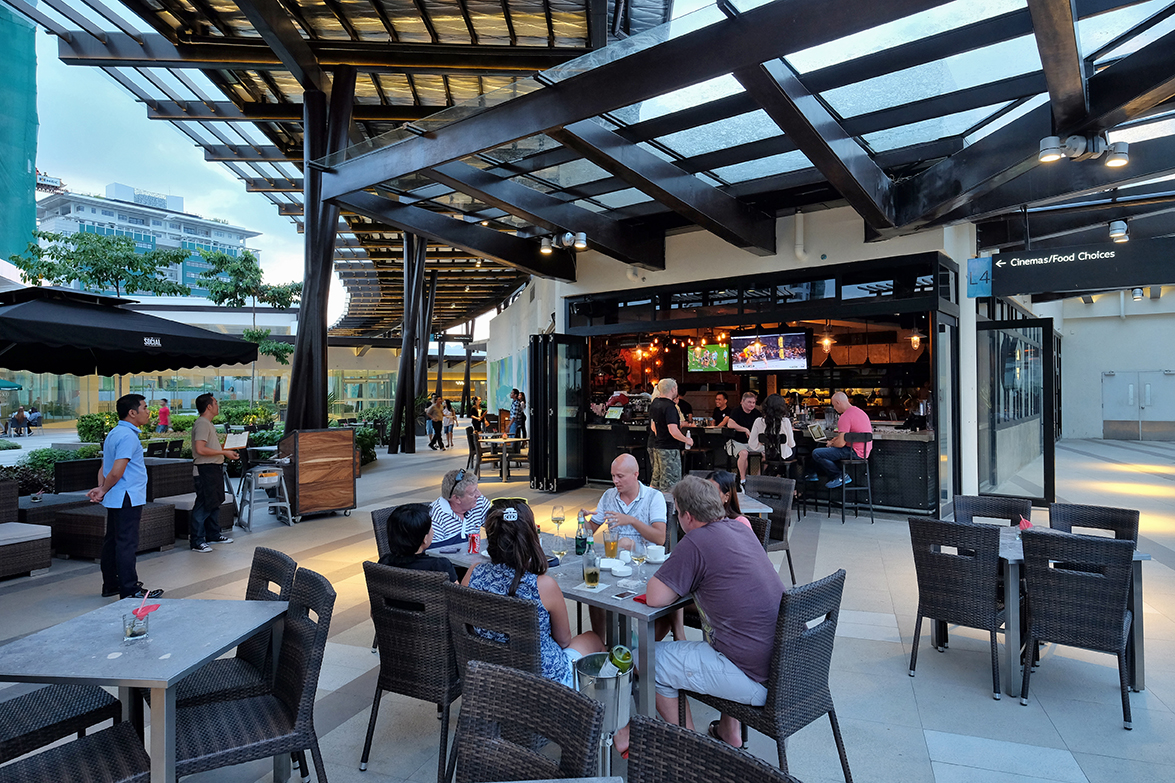 Outdoor Bar and Dining Area at The Social