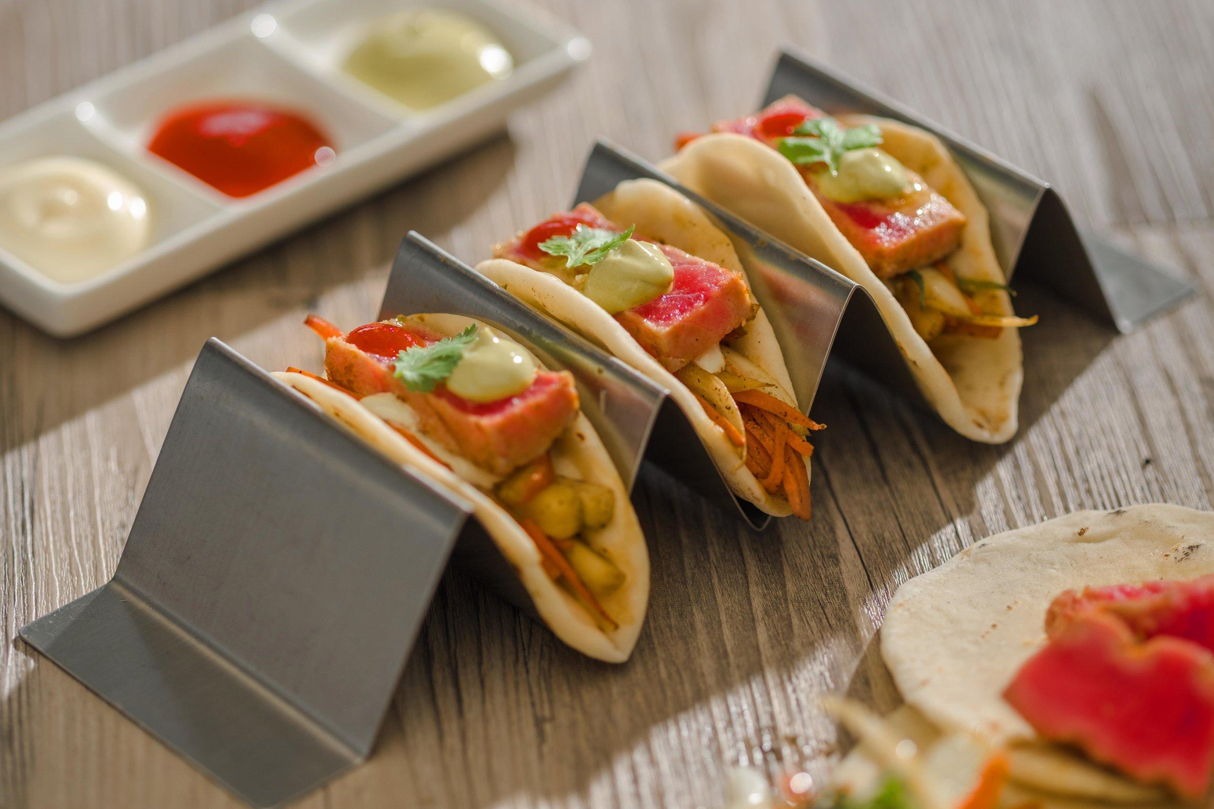 Tuna Tacos at The Seaside Saloon