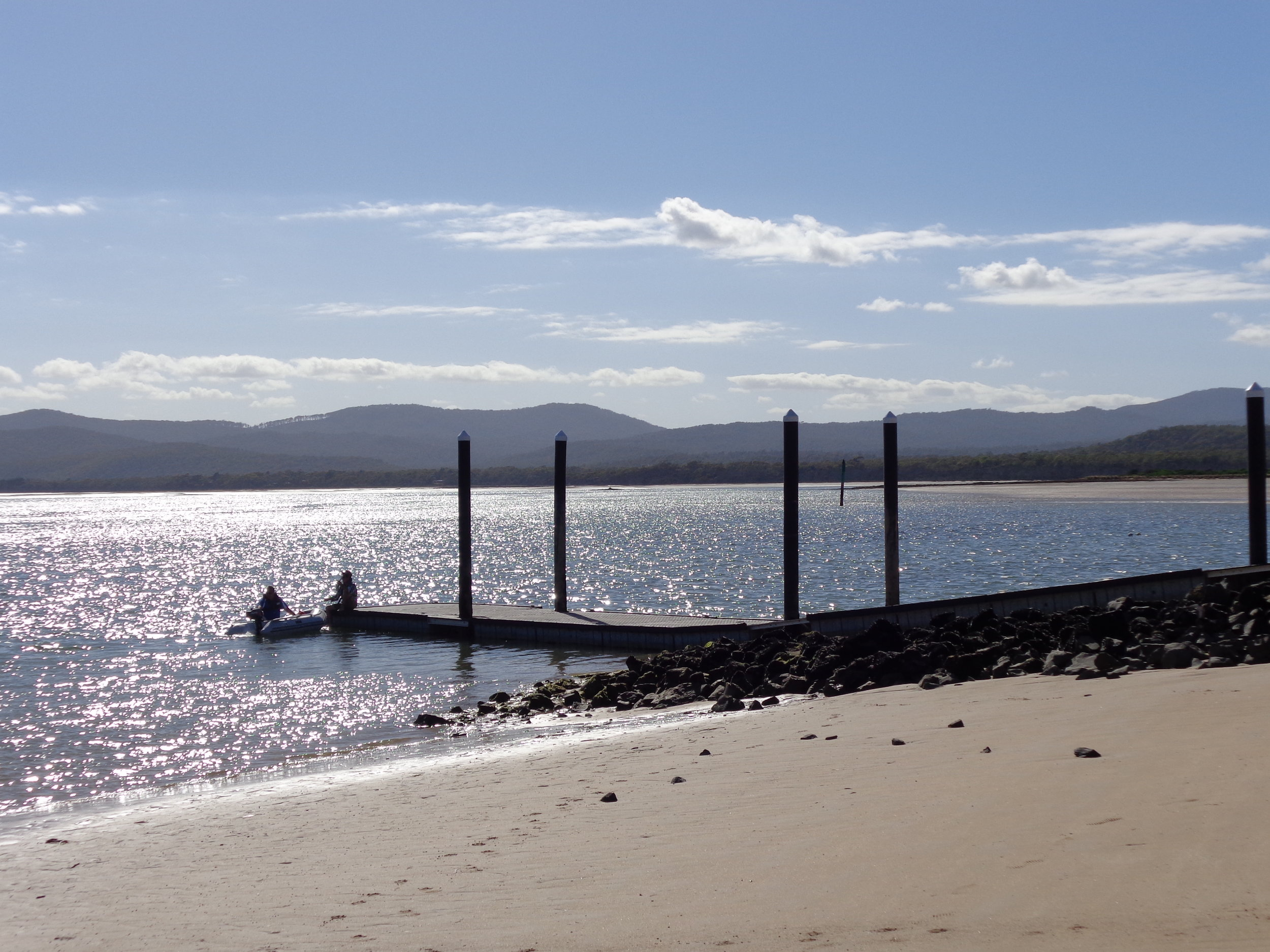Port Sorell Boat Ramp with Narawntapu National Park in the background